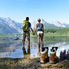 Wanderpause am Almsee