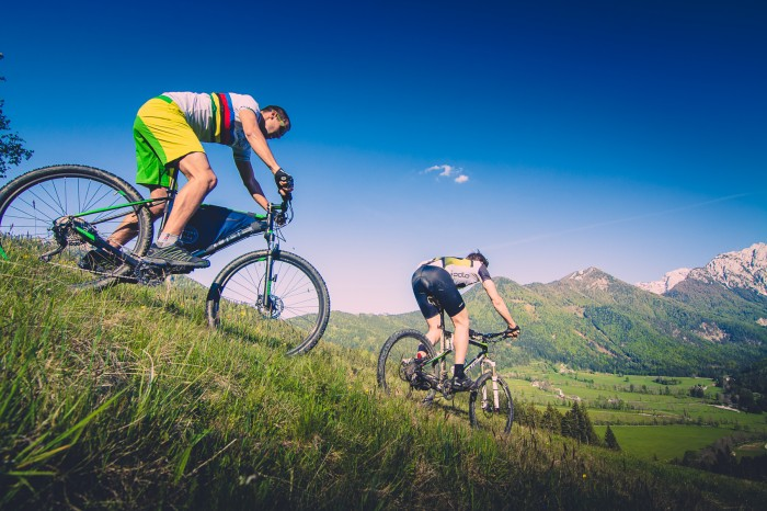 Single-Trail mit dem Mountainbike