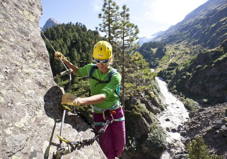 Klettersteig Umhausen : Vent im Ötztal klettersteige